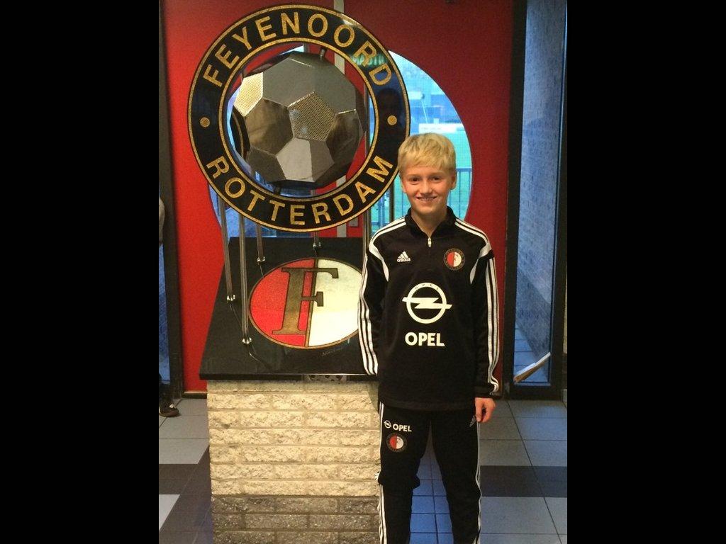 Kentucky Kid Austin Welch trials at Feyenoord Academy