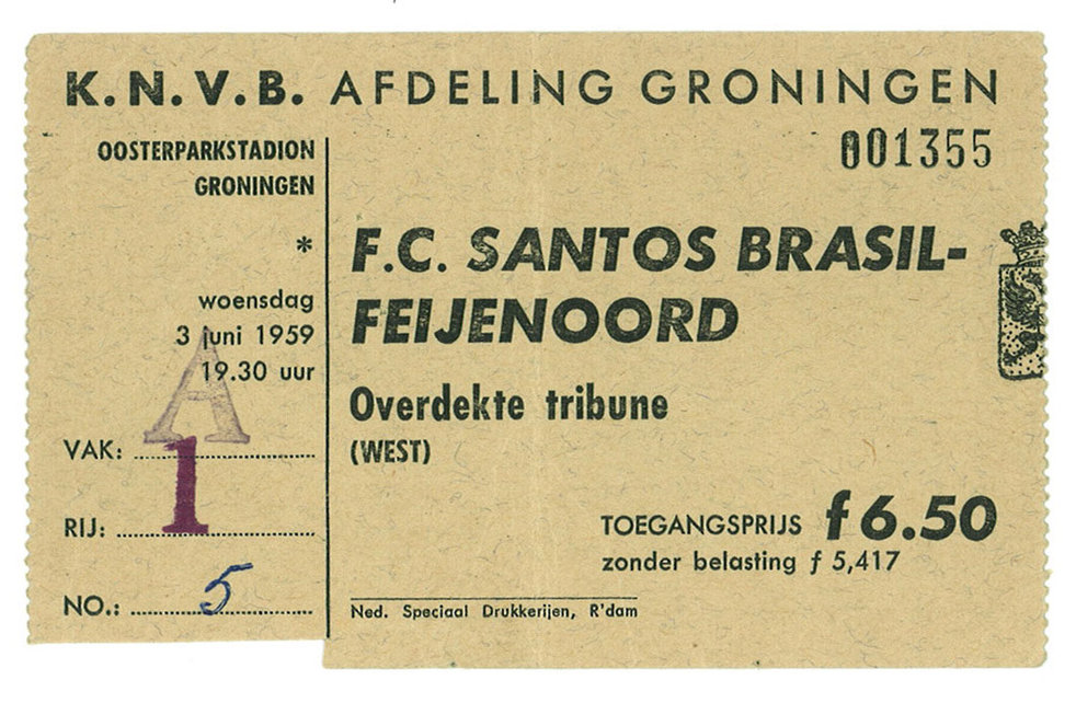 Match ticket F.C. Santos Brazil vs. Feijenoord